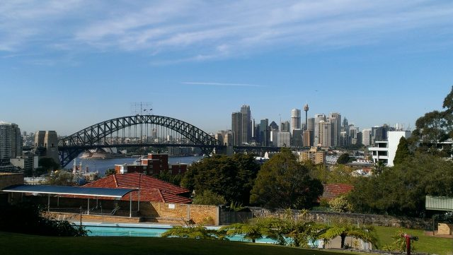 View of Sydney Harbour from Shore School in Sydney
